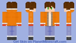 i found an old drawing of a character and made a skin of it Minecraft Skin
