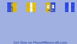 Blue Yellow Gift skin Minecraft Skin