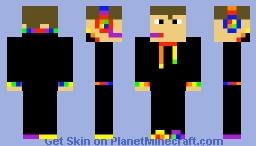 DOUBLE LAYERED SKIN-sports gamer/rainbow gamer Minecraft Skin