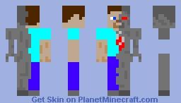 cyborg steve Minecraft Skin