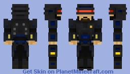 C.O.P.-  (Cybernetic Operational Policeman) Minecraft Skin