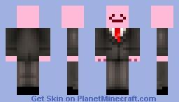 Kirbo in a suit Minecraft Skin