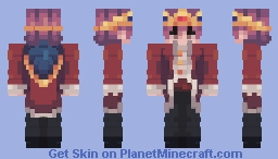 Gift for Simoblade. (Human Technoblade.) Minecraft Skin
