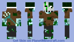 Masked Drowned Minecraft Skin