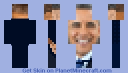 Obama grey back Minecraft Skin