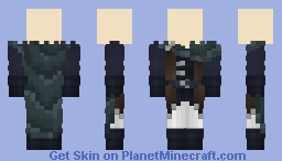 [LOTC Commission] Cloaked Blue Minecraft Skin