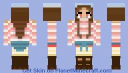 Adorable and Sweet Dessert Girl Minecraft Skin