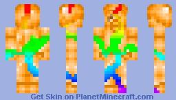 Corrupted rainbow steve RQ Minecraft Skin