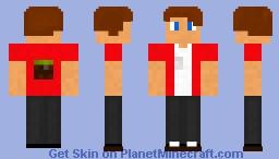 Grass block guy Minecraft Skin