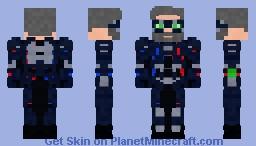 Senior Police Captain | Futuristic Uniform | Contest Entry Minecraft Skin