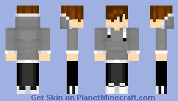 Cool Boy with Hoodie Minecraft Skin