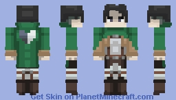 Levi Ackerman | Attack On Titan Minecraft Skin