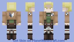 Reiner Braun | Attack On Titan Minecraft Skin