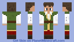 Medieval Green Tunic Man With Brown Boots Minecraft Skin