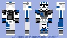 ARC Trooper Echo Minecraft Skin