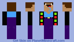 Noob with both of Darth Vader's arms Minecraft Skin