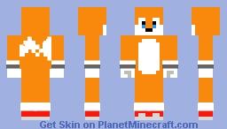 Movie Tails (Sonic Movie 2) Minecraft Skin