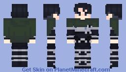 Levi Ackerman SNK Season 4 Minecraft Skin