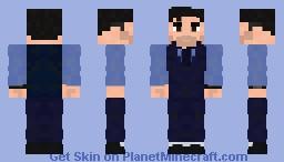 Bruce Wayne   Casual Suit Vest   BvS Minecraft Skin