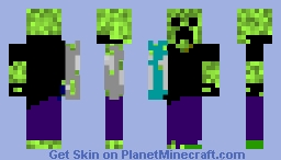 Creeper Aww man Minecraft Skin
