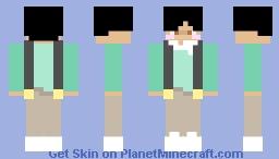 Collar Mint Overall Boy Skin Minecraft Skin