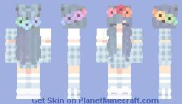 Pastel in Blue Minecraft Skin