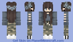 Pastel in the Army Minecraft Skin