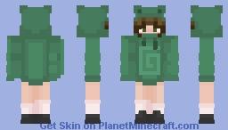 karl jacobs frog hoodie girl Minecraft Skin