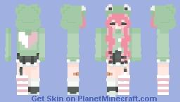 she cute or whatever Minecraft Skin