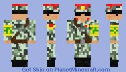North Korean Border Guard Minecraft Skin