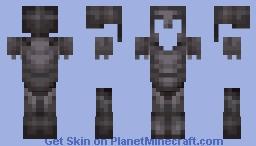 FULL netherite armor set Minecraft Skin