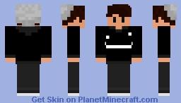 Wilbur Soot styled skin w/ Dream hoodie and whale beanie Minecraft Skin