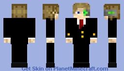 Business suit with Iskallium eye Minecraft Skin