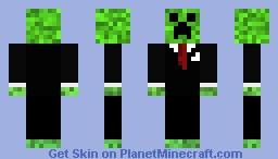 smart creeper Minecraft Skin