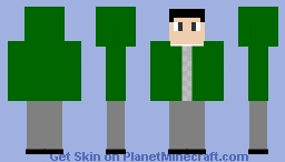 green gamer Minecraft Skin