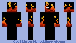 oh my god hes on fire Minecraft Skin