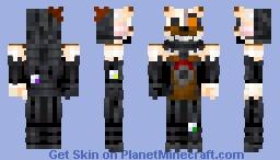 Stylized Molten Freddy Minecraft Skin