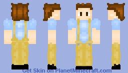 Yellow Overallllllllls Minecraft Skin