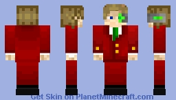 My skin but this time a red suit Minecraft Skin