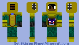 My Skin (Scuba Gear With Bon Bon In His Capsule And My Endo Arm) Minecraft Skin