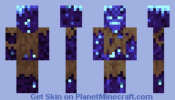The Glow Drowned Minecraft Skin