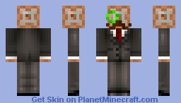 Mr. Command Block (With Monocle and Mustache) Minecraft Skin