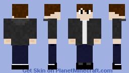 Leather Jacket  Guy Minecraft Skin