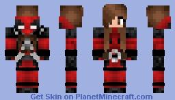 Dead Pool Girl Minecraft Skin