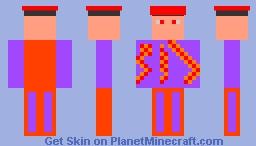 The Blaze Flame Corrupted Forster Skin(Version 2) Minecraft Skin