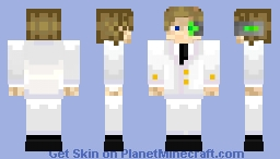My skin but with a cream suit Minecraft Skin