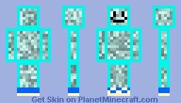 Smiley Blue Sneaker Dude/Dudette Minecraft Skin