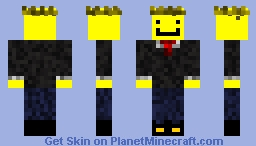 My minecraft charector but he is the king Minecraft Skin