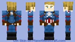 Captain America/ Steve Rogers (Avengers: Endgame) Minecraft Skin