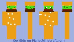 Hamburger man Minecraft Skin
